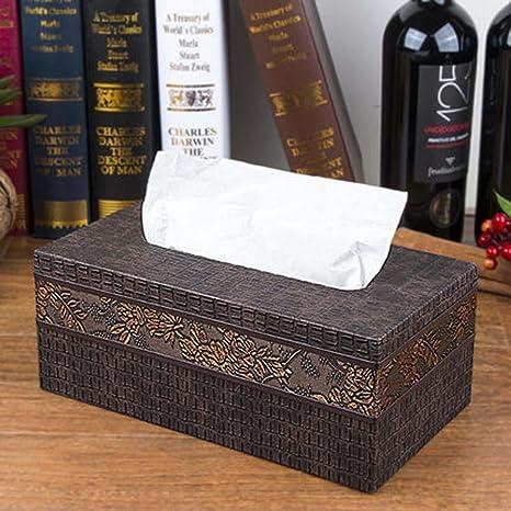 SQL Coche creativa Inicio escritorio clásico europeo madera servilleta almacenamiento de paño de papel bandeja de