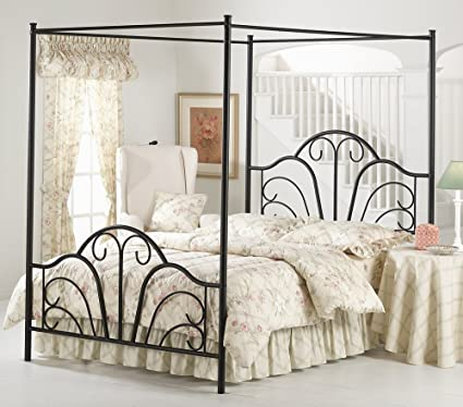 canopy bed king Black