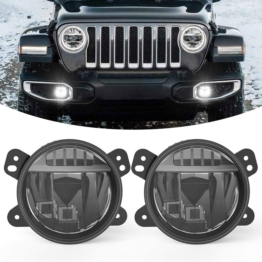 Jeep Wrangler Fog Lights >> Bunker Indust 4 Upgraded Led Fog Lights Fit For Jeep Wrangler Jl 2018 2019 Not Fit Sport Models Led Foglight Assembly Kit Waterproof Led White