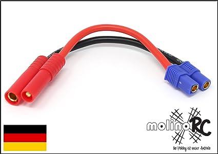 T-Plug EC3 Female to TRX Male JST molinoRC Lipo Akku Adapterstecker Premium Modell EC3 Verschiedene Varianten in unterschiedlichen Kombinationen zum ausw/ählen MPX XT60 TRX