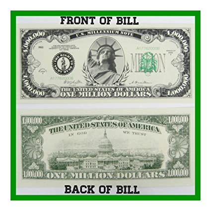 picture relating to Printable Realistic Money called : (50) Just one MILLION Greenback Novelty Paper Untrue Dollars