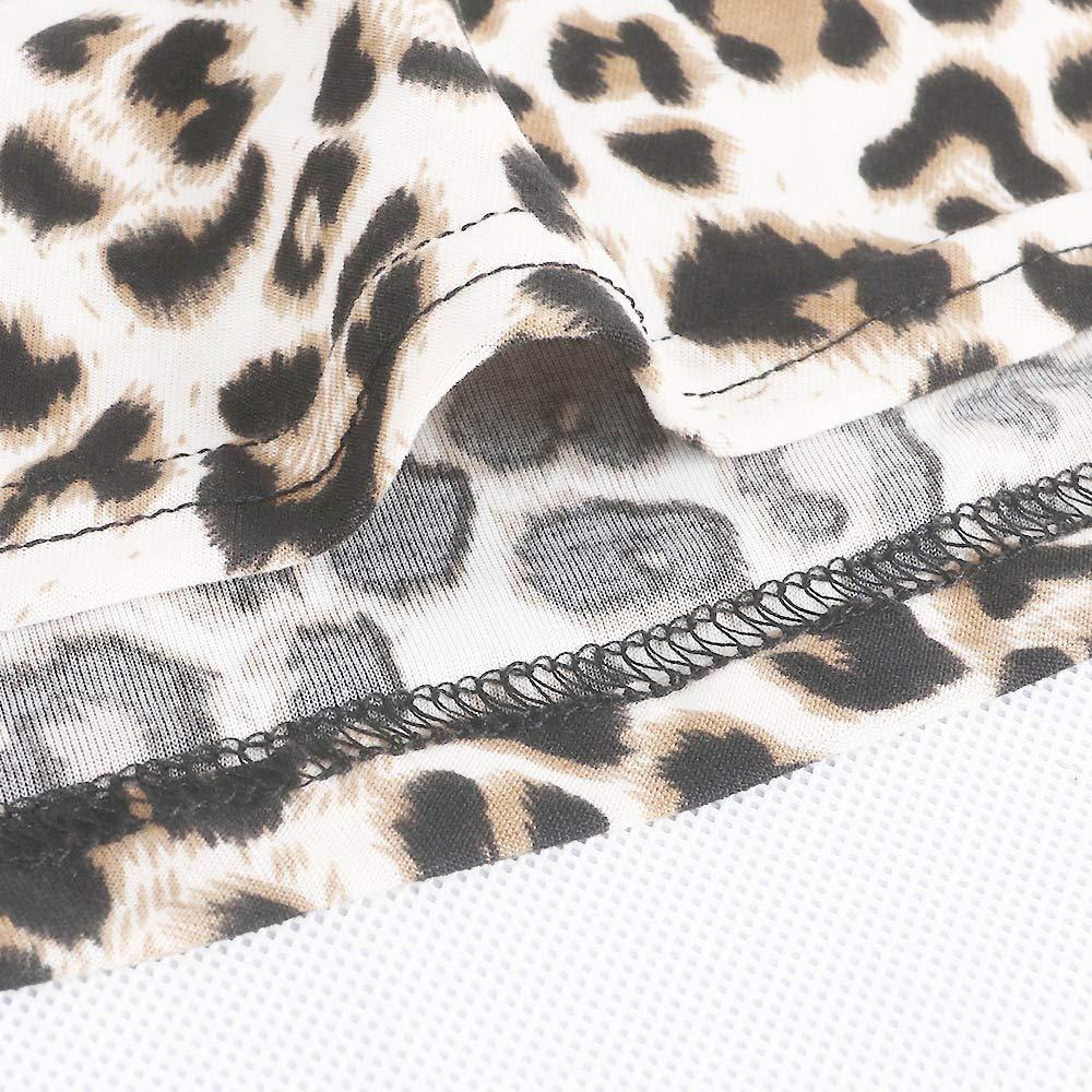 6eb9b4aa21fe Amazon.com: WYTong Hot Sale! Women Ladies Sexy Leopard Print Wrap Dress V  Neck Long Sleeve Sashes Party Mini Dresses: Clothing