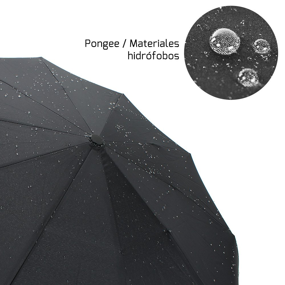 Paraguas Automático Plegable Impermeable para Viaje por solo 15,99€