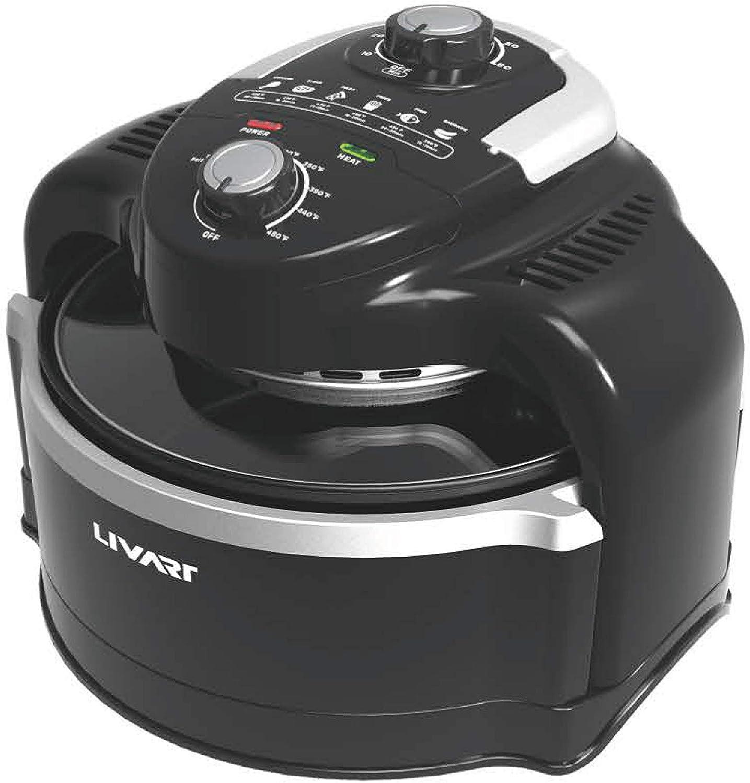 [LIVART] Premier Air Fryer Oven, Extendable Capacity 4.5L to 7L. Halogen Heating Air Fryers Oven & Oilless Cooker for Roasting, Nonstick Basket, ETA, FDA Listed