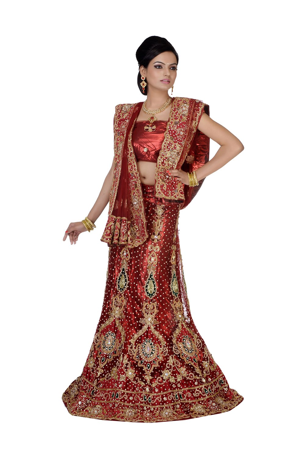 Indian Lehenga Choli For Women Party Wear Red Designer Traditional