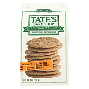 Tate'S Bake Shop Gluten Free Ginger Zinger Cookies 7 Oz (Pack of 12)
