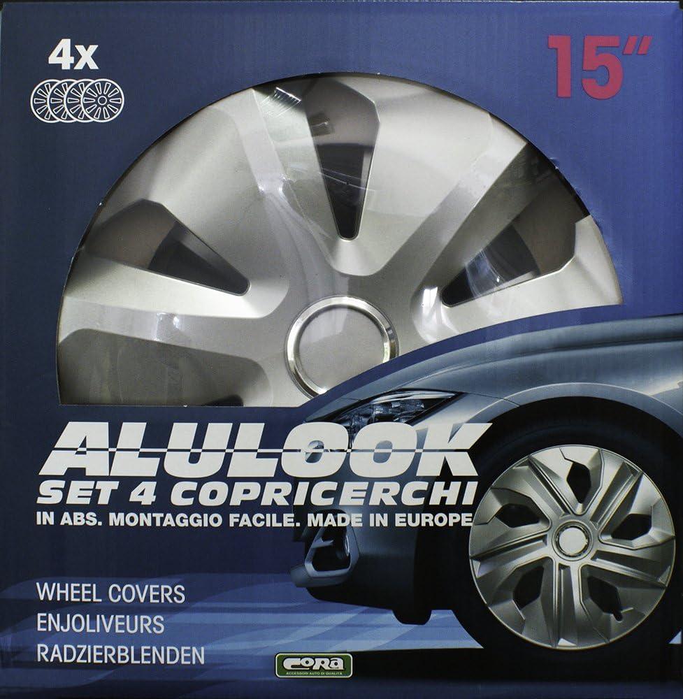 Tapacubos Aspecto de Aluminio 15 Pulgadas CORA 41145 Box ROCO Ring