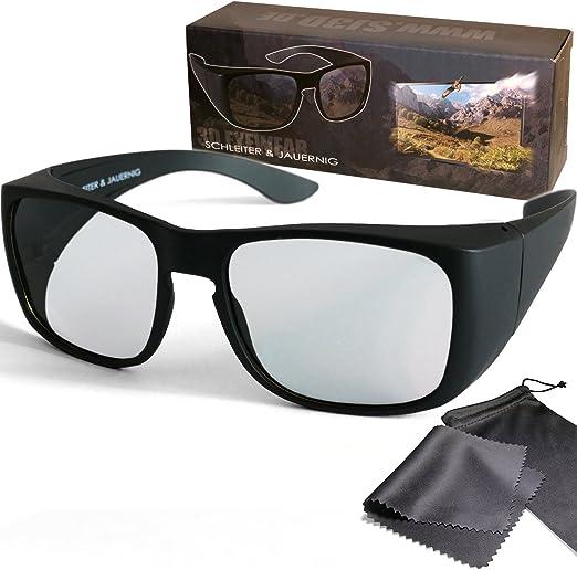 Schleiter & Jauernig SJ-UE - Gafas 3D pasivas para Personas con Gafas o sin Gafas (polarizadas circularmente, para RealD 3D Kino y TV, 200 g): Amazon.es: Electrónica
