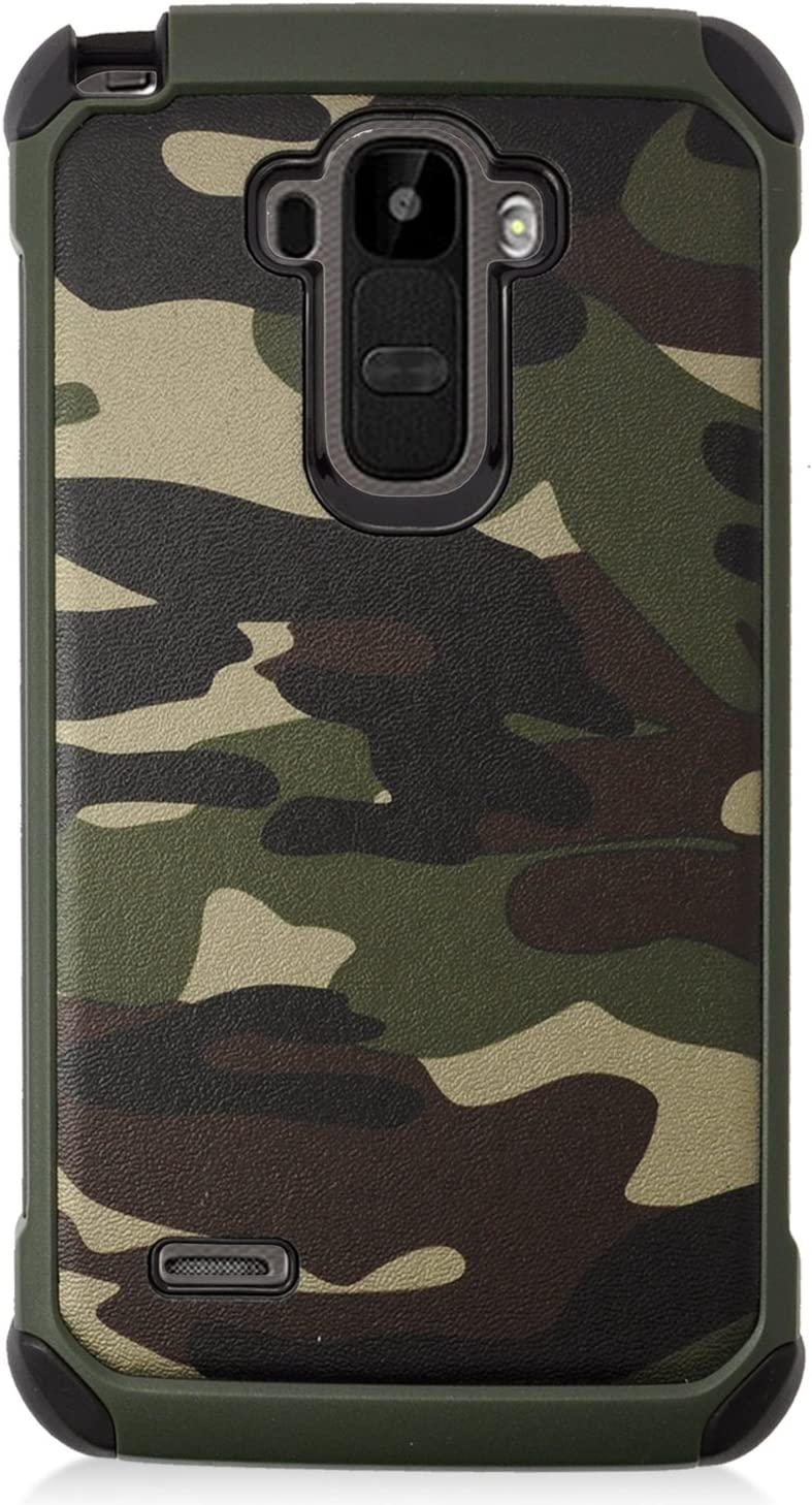 LG G Stylo LS770/G Vista 2 Case, Eagle Cell Camouflage Dual Layer [Shock Absorbing] Protection Hybrid Rubberized Hard PC/Silicone Case Cover for LG G Stylo LS770/G Vista 2, Green/Black