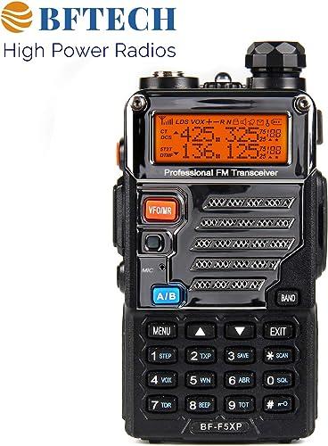 BFTECH BF-F5XP 5 Watt Dual Band Radio 136-174mhz VHF 400-520mhz UHF Amateur Ham Portable Two-Way Radio