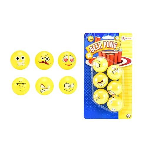 Toi-Toys Bière Balle de Ping-Pong Emoji Design Figurine, 51017A, Multicolore