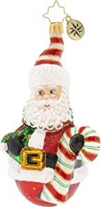 Christopher Radko Hand-Crafted European Glass Christmas Ornament, Roly-Poly Claus