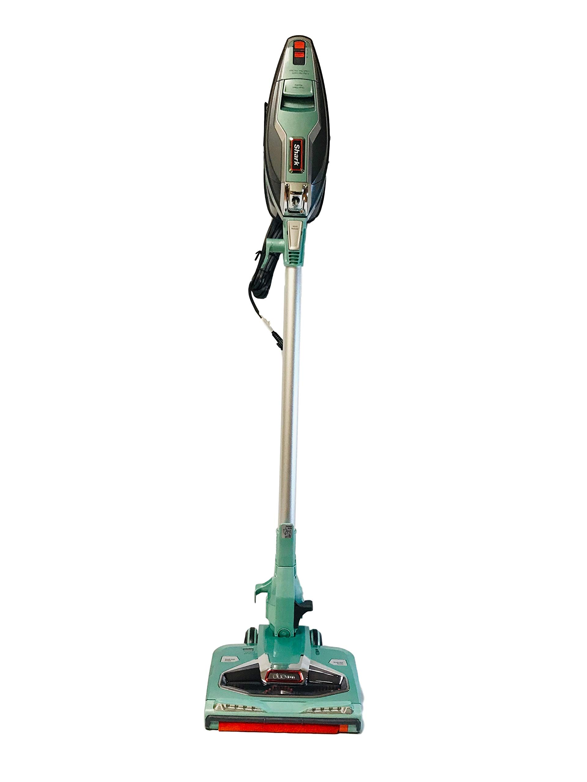 Shark Rocket DuoClean Ultra-Light Corded Stick Vacuum with DuoClean TechnologyHV384Q (Mint Green) Bagless | LED Lights | Pet Grooming Tool | Lift-Away Hand Vacuum (Renewed)
