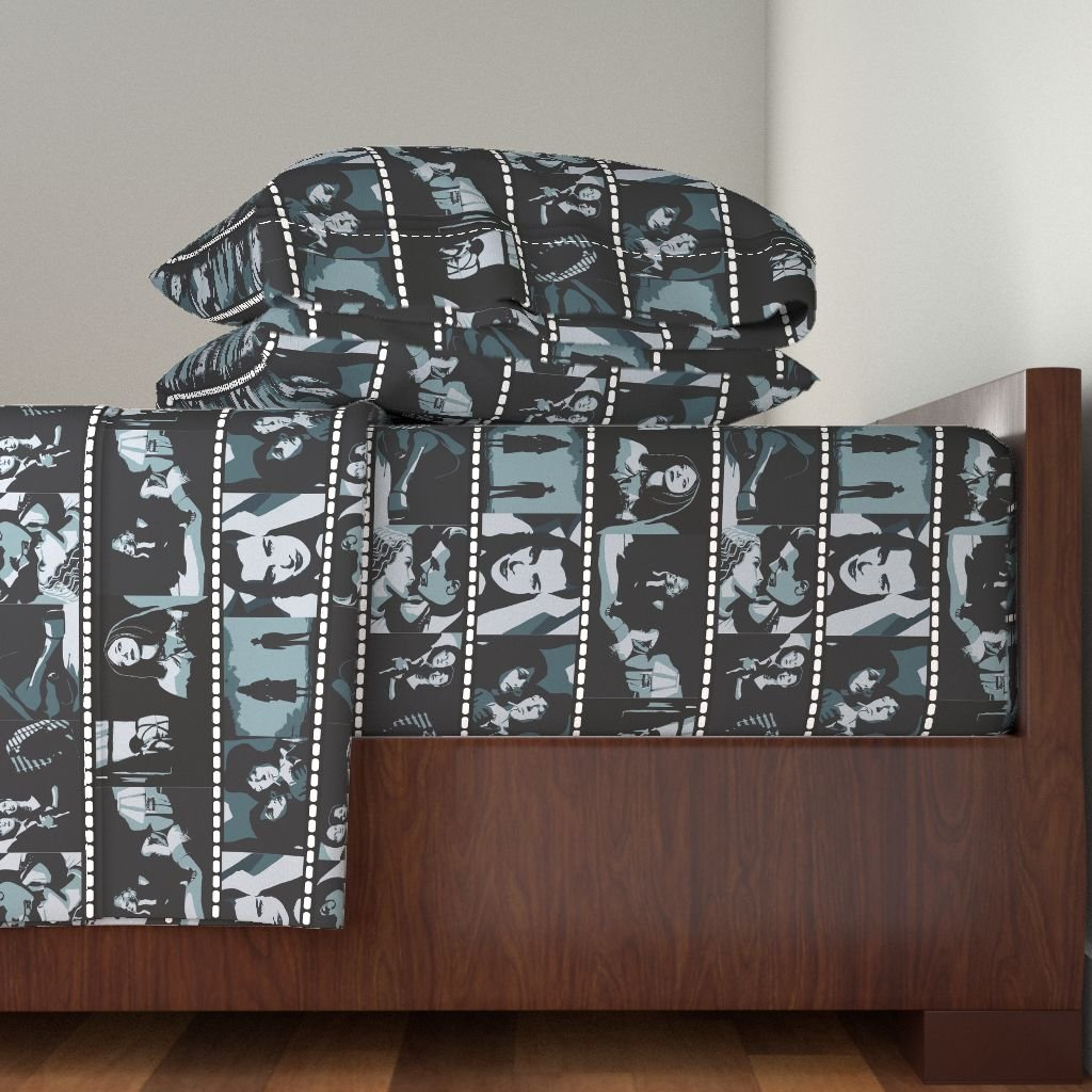 Roostery Film 4pc Sheet Set Movie Stills by Kociara Queen Sheet Set made with