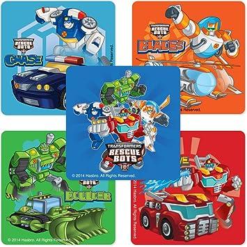 Amazon.com: Transformers Rescue Bots pegatinas – Cumpleaños ...