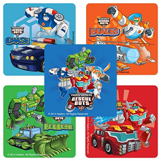 Amazon SmileMakers Transformers Rescue Bots Stickers