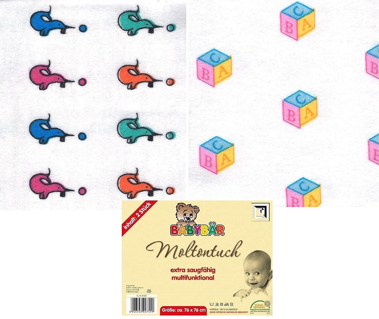 Seehunde 2er Set Moltont/ücher Spuckt/ücher 76x76 cm Motiv