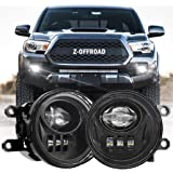 Z-OFFROAD New LED Fog Lights for 2016-2019 Tacoma 2014-2019 4Runner 2014-2019 Tundra Truck Driving Lamps Assembly Replacement