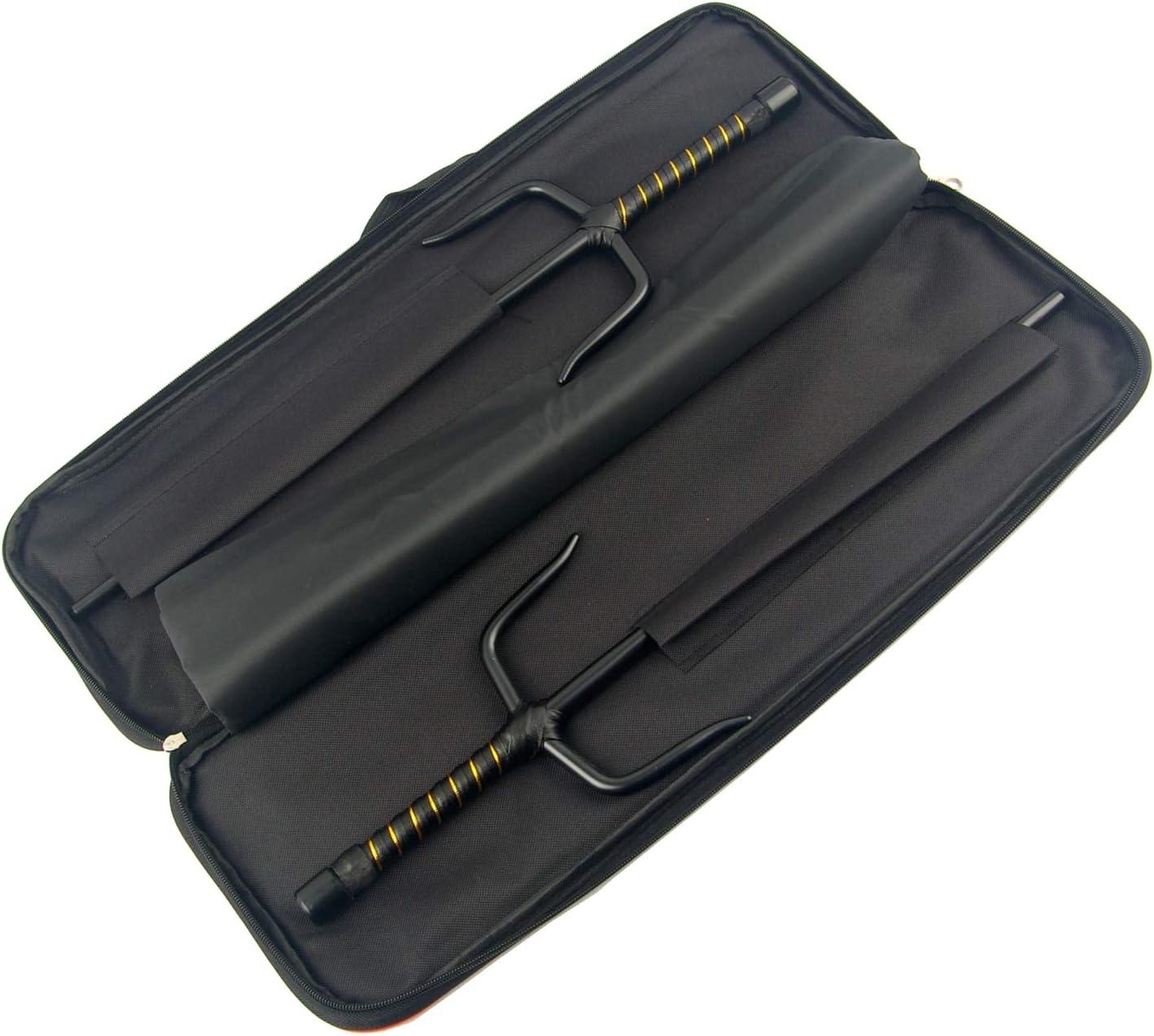 Superdo Cylinder Metal Martial Arts Sai /& Case Black, 21\