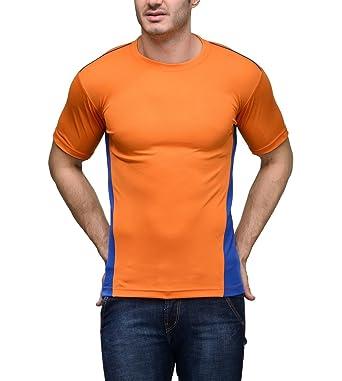 7c76a917b Scott Men's Jersey Round Neck Sports Dryfit T-Shirt - Orange: Amazon ...