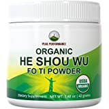 He Shou Wu Organic Fo Ti 50:1 Root Powder by Peak Performance. Organic Raw Whole Food Plant Based Vegan Fo-Ti Supplement. fro