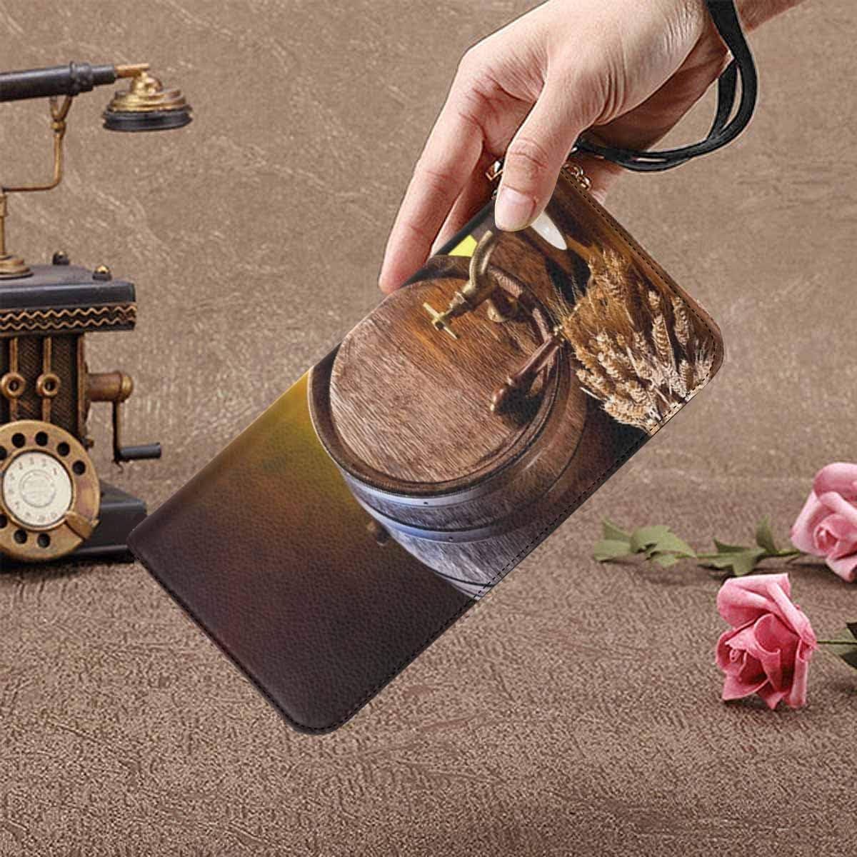 InterestPrint Funny Arts Womens Clutch Wallet Large Wristlet Zipper Clutch Large Travel Purse
