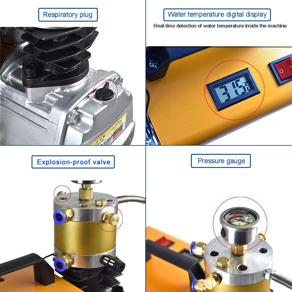 normale Pkw-Fahrr/äder und Fahrradreifen MENGS 300Bar 30MPA 4500PSI Hochdruck Druckluftpumpe Elektrische Kompressor PCP Luftpumpe f/ür Druckluftpistole PCP-Luftpumpe Geeignet