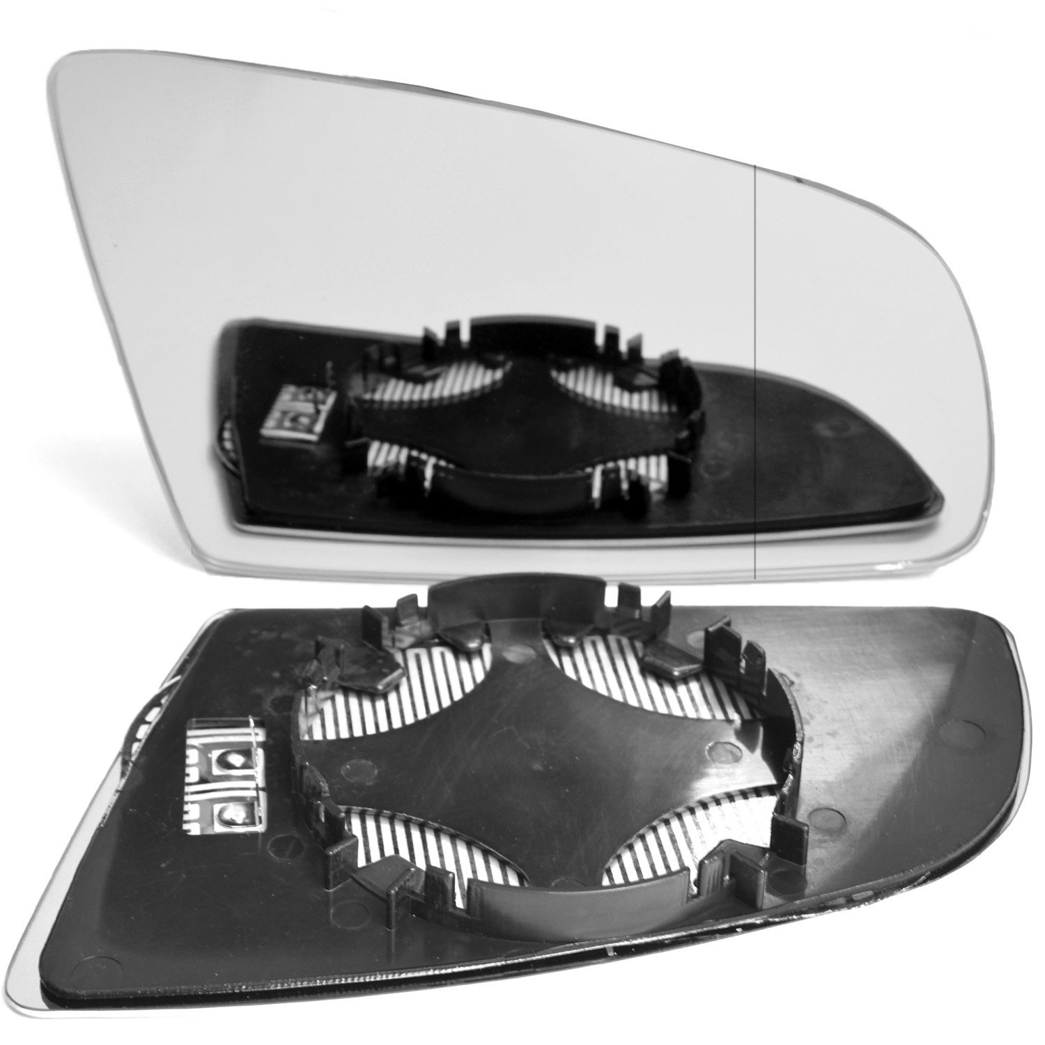 Less4Spares A008-RH/_a4/_wa Heated Right Driver Side Wing Door Clip on Mirror Glass clip