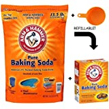 Arm & Hammer Baking Soda, 14.5 Pound - With Resealable Box & Measuring Cup (14.5 LB - Best Value)