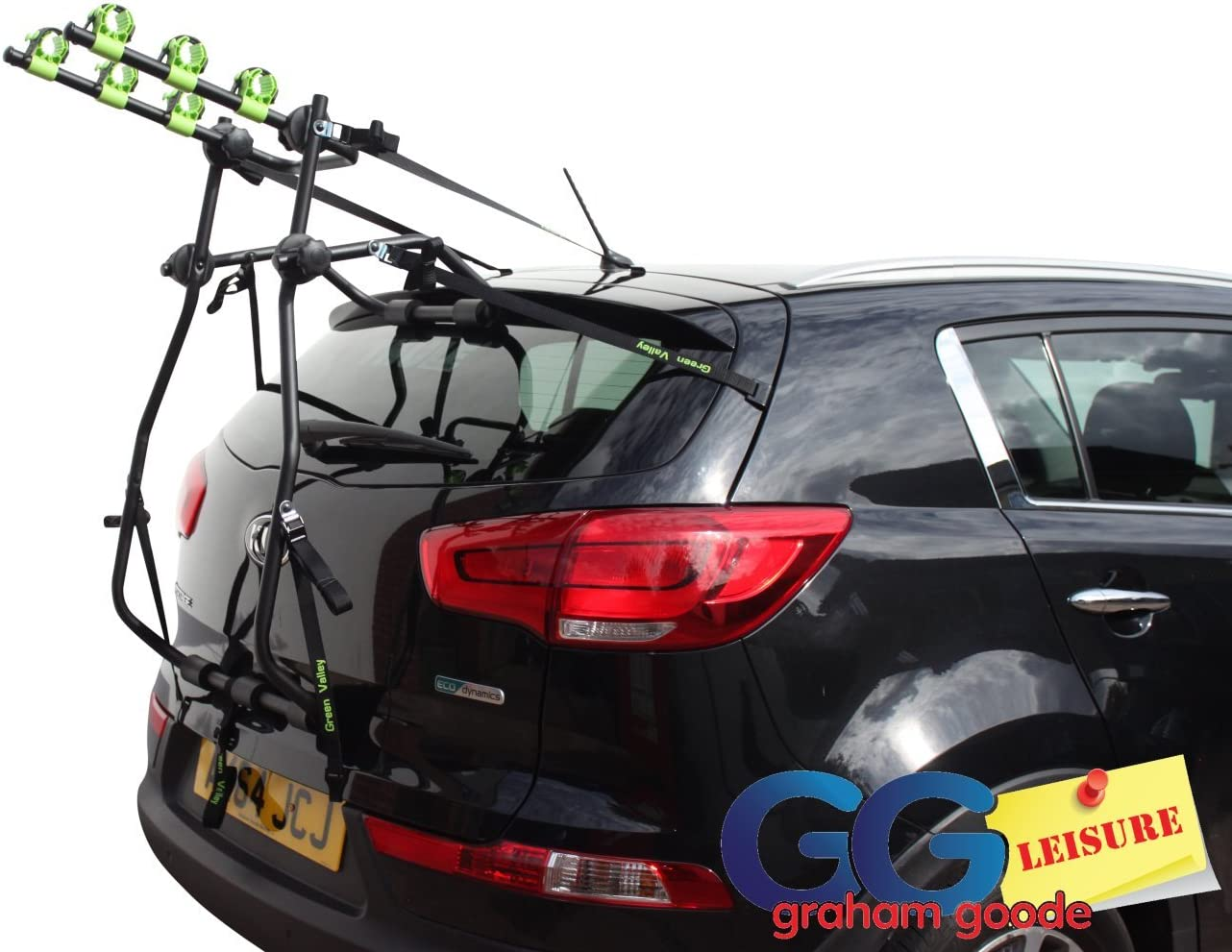 Car Boot 3 BIKE CYCLE CARRIER RACK To Fit Kia Niro Sportage Optima Soul Venga