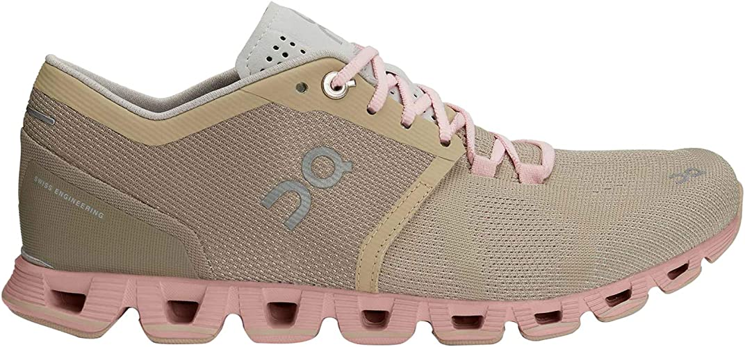 Zapatillas On Running Cloud X Sand Rose Mujer 37,5 marrón: Amazon ...