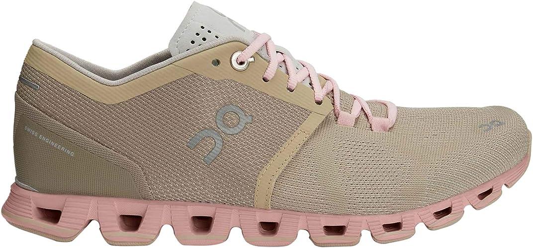 Zapatillas On Running Cloud X Sand Rose Mujer 37,5 marrón: Amazon ...