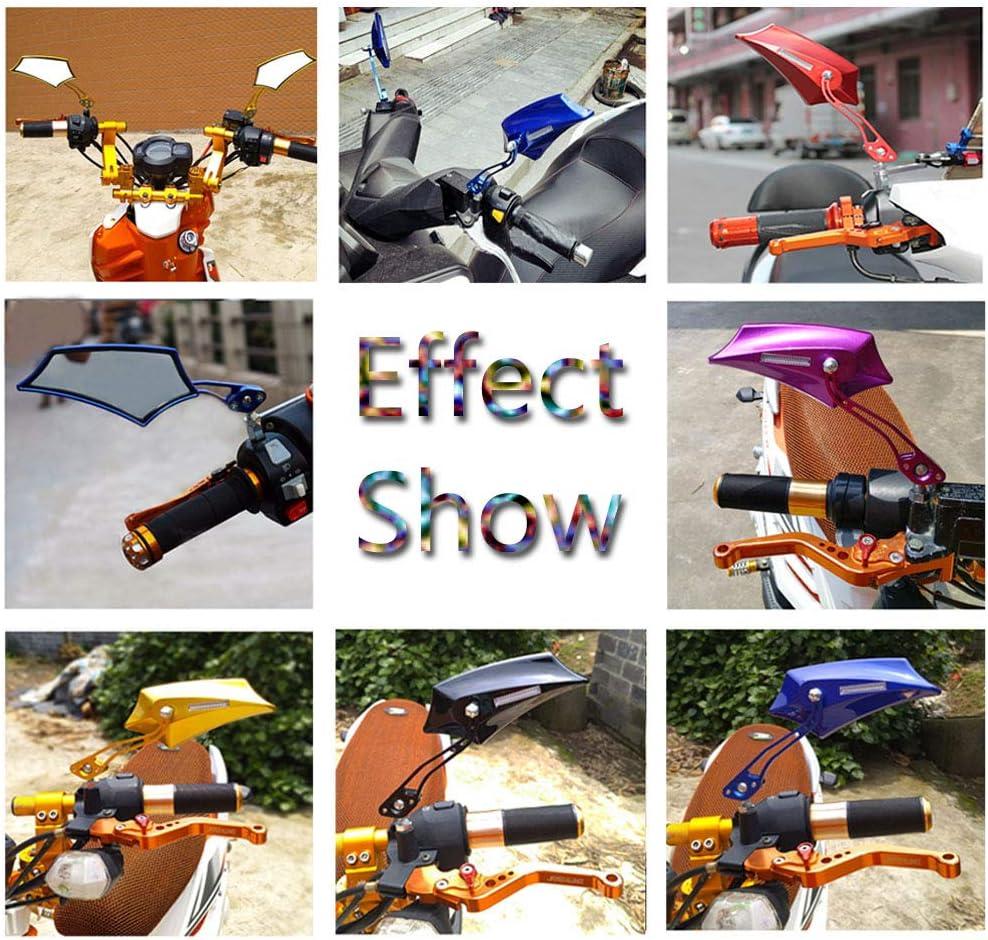 10mm bicyclette Mintice bleu Universel r/étroviseur lat/éral de moto miroir scooter 8