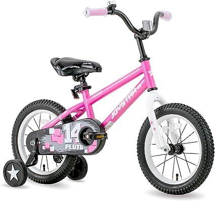 Amazon Com Joystar Pluto Kids Bike With Training Wheels For 12 14 16 18 Inch Bike Kickstand And Training Wheels For 18 Inch Bike Sports Outdoors