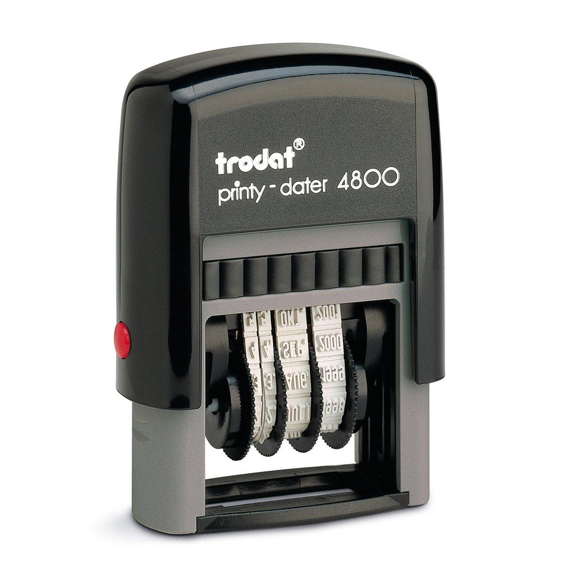 Trodat Printy 4800 - Sello de fecha (variante ISO, 3 mm), color negro 092399814788