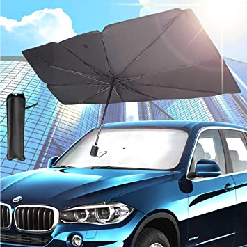 Car Windshield Sun Shade Umbrella Car Umbrella for Windshield Sun Protection Auto Front Window Protector Sun Shade Easy to Use and Store Heat Insulation Sunscreen Umbrella Car Front Durable