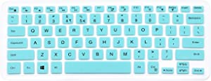 "Silicone Keyboard Cover Compatible for 13.3"" Dell Inspiron 13 5000 Series 5368 i5378 5379 & Dell Inspiron 13 7000 Series 7370 7373 7368 & 15.6"" Dell Inspiron 15 5568 5578 7568 (NO Numeric Keypad) Mint"