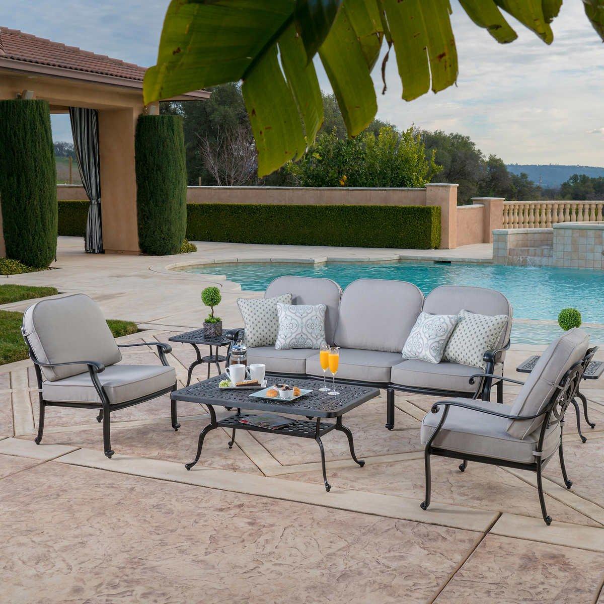 Veranda Classics San Marino Grey 6 Piece Sofa Set Patio Furniture