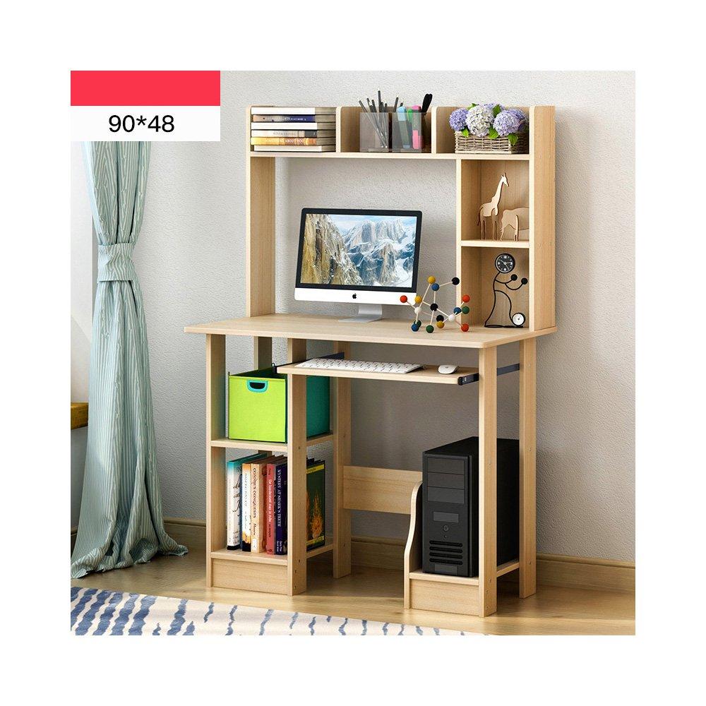 ソリッドウッドテーブルデスクトップコンピュータデスクシンプルな家庭用コンピュータデスク デスク 木製 B07BZL2RBBカラー1