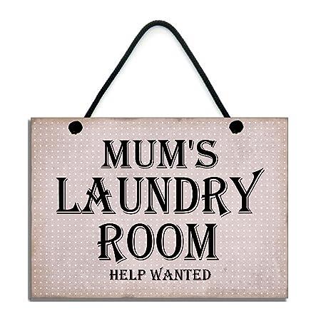 Sala de Lavandería de la mamá Help Wanted divertido cartel ...