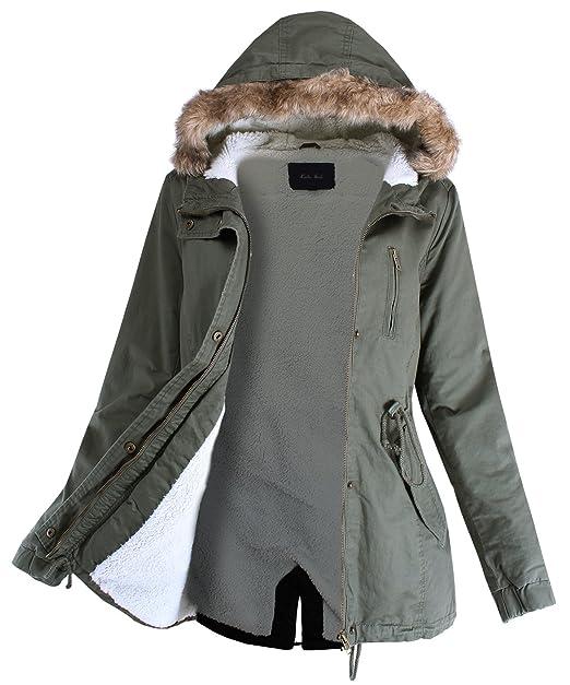 460ca3c41 Ladies' Code Women's Fur Lined Warm Coats Outwear Winter Jackets  w/Detachable Fur Trim