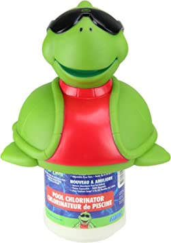 Amazon Com 11 5 Green And Red Turtle With Sunglasses Floating Swimming Pool Chlorine Dispenser Garden Outdoor