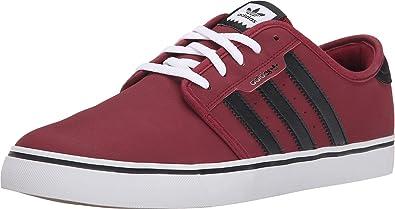 dentro de poco egipcio Refrigerar  adidas Originals Seeley Zapatillas de Correr para Hombre, Color Rojo, Talla  48 2/3 EU: Amazon.es: Zapatos y complementos
