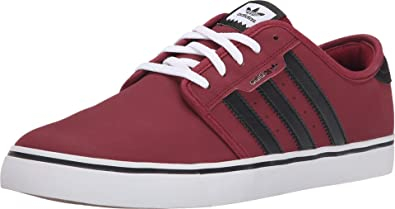 4c2c96ea4eb Image Unavailable. Image not available for. Color  adidas Skateboarding  Men s Seeley Burgundy Black White ...