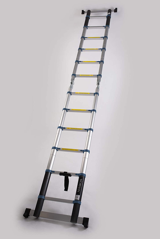 WORHAN® 3.2m Escalera Doble Telescopica PRO Multiuso Multifuncional Plegable Tijera Aluminio Anodizado Nueva Generación Calidad Alta 320cm K3.2A: Amazon.es: Bricolaje y herramientas