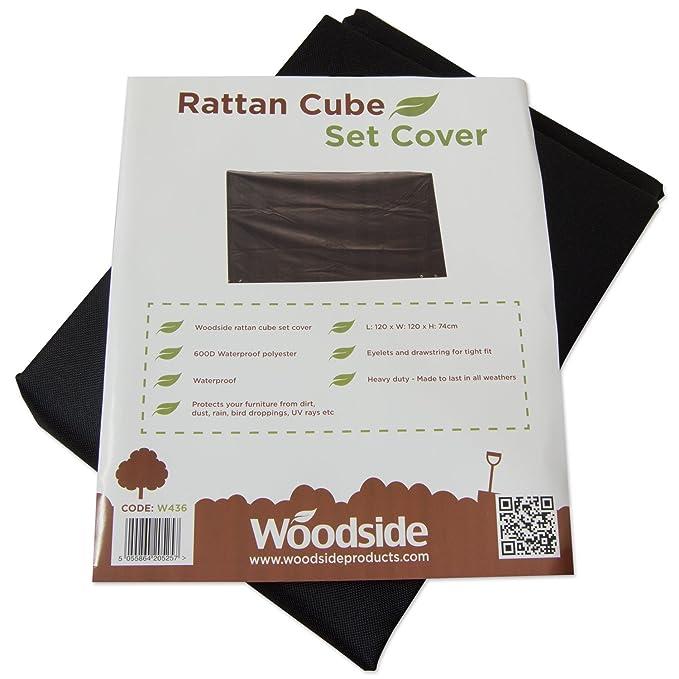 Woodside - Bâche//Housse de protection pour salon de jardin en rotin ...