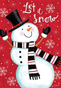 Briarwood Lane Snowman Celebration Winter Garden Flag Let It Snow 12.5