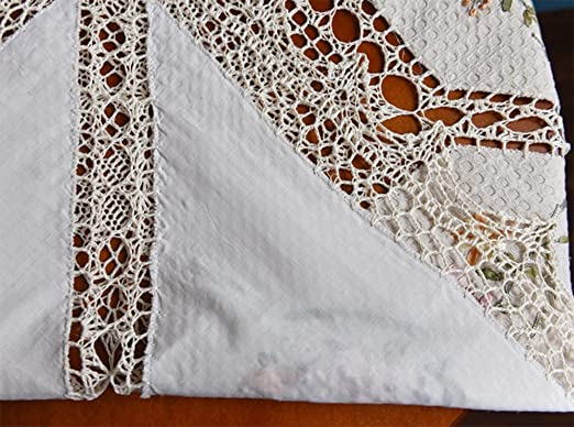 starail 100% algodón manteles de ganchillo bordado toalla de mano,: Amazon.es: Hogar