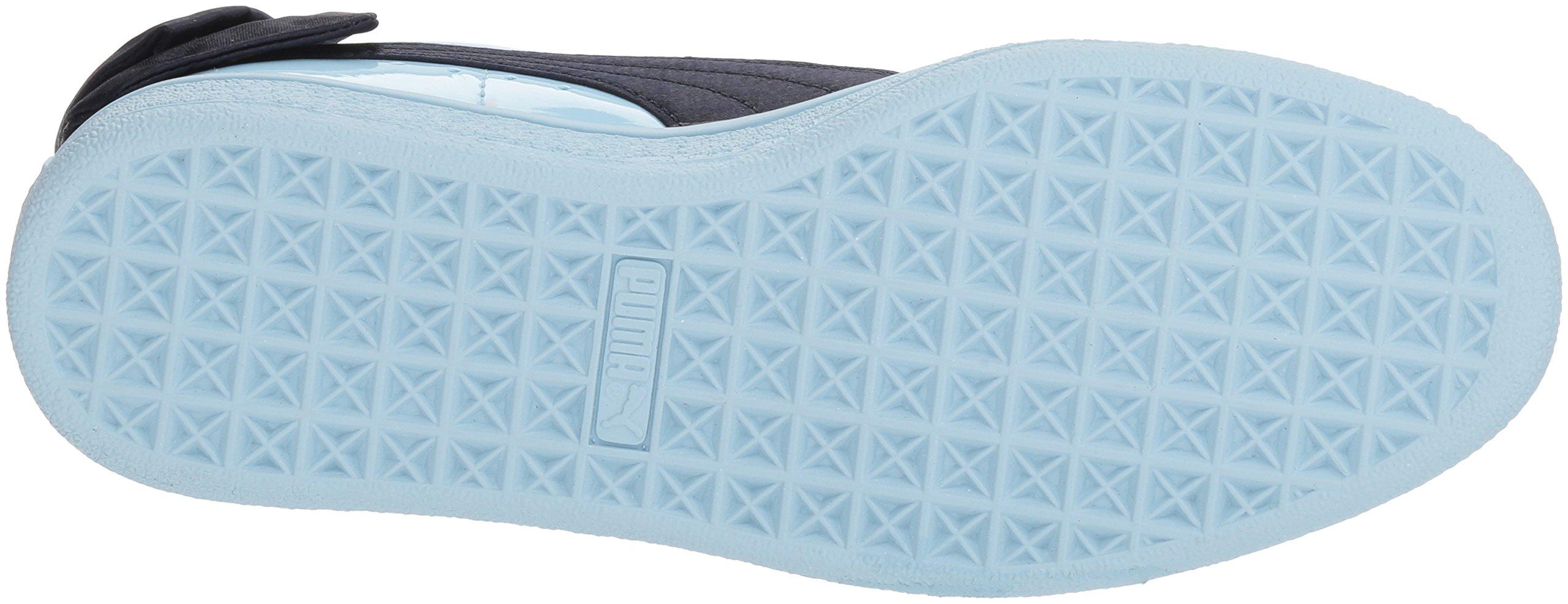 PUMA Unisex-Kids Basket Bow Patent Sneaker, Cerulean-Peacoat, 12 M US Little Kid by PUMA (Image #3)