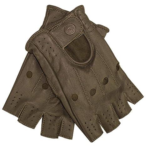 4e051ed42b9ba0 German Wear Driving Halbfinger Fingerlose Autofahrer-Handschuhe  Lederhandschuhe: Amazon.de: Bekleidung